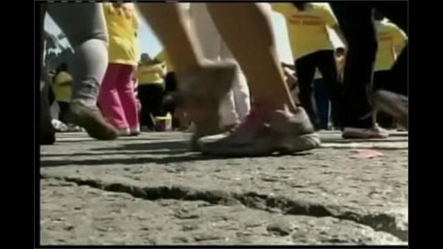 West Texas Elementary Organizes Flash Mob