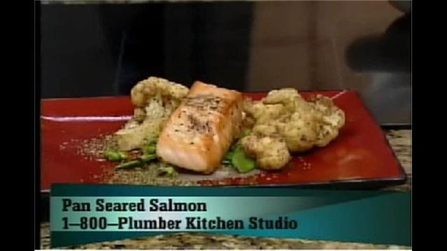 BL Bistro's Pan Seared Salmon with Roasted Lemon Vinaigrette