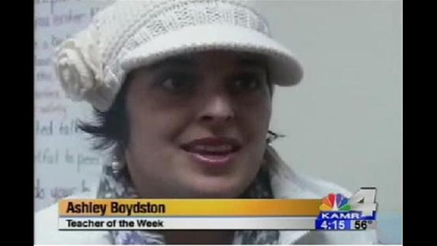Teacher of the Week: Ms. Boydston