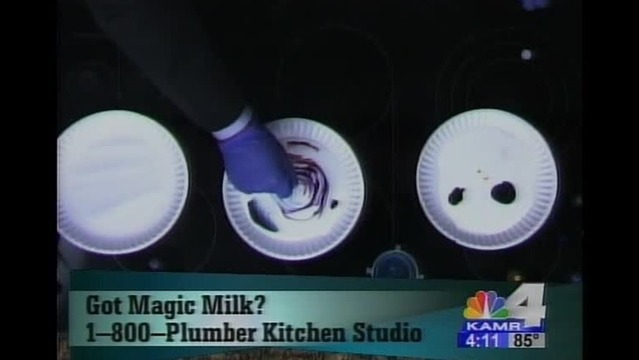 Magic Milk Science from the Discovery Center