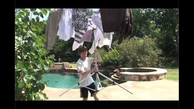 Green your laundry routine: Hang it out