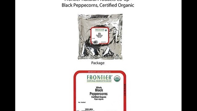 Recall: Organic Black Peppercorns Due to Possible Health Risk