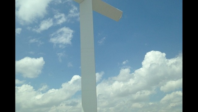 Celebrating with the Giant Cross