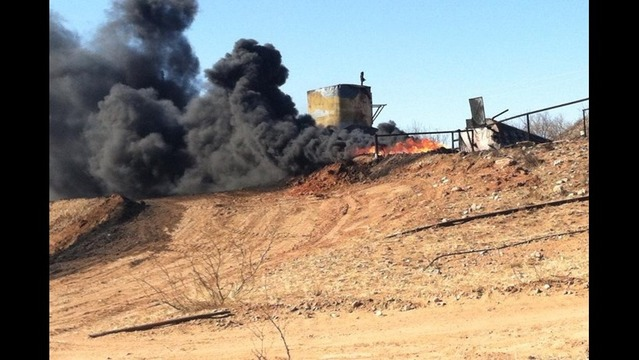 Tank Battery Catches Fire Near Borger