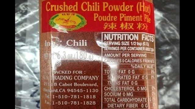 Recall: US Trading Company Crushed Chili Powder Because of Possible Health Risk