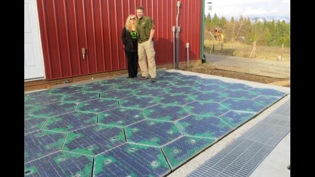 Could photovoltaics turn roadways, parking lots and patios into green energy producers?