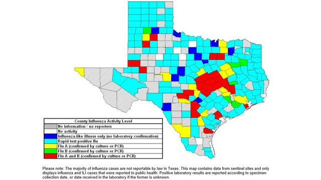 23 Texas Panhandle Counties Reporting the Flu