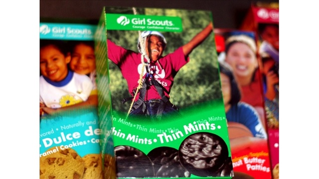 Girl Scouts offer cookies in drive-thru