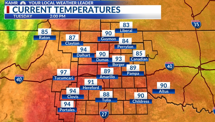 Current Temps Map