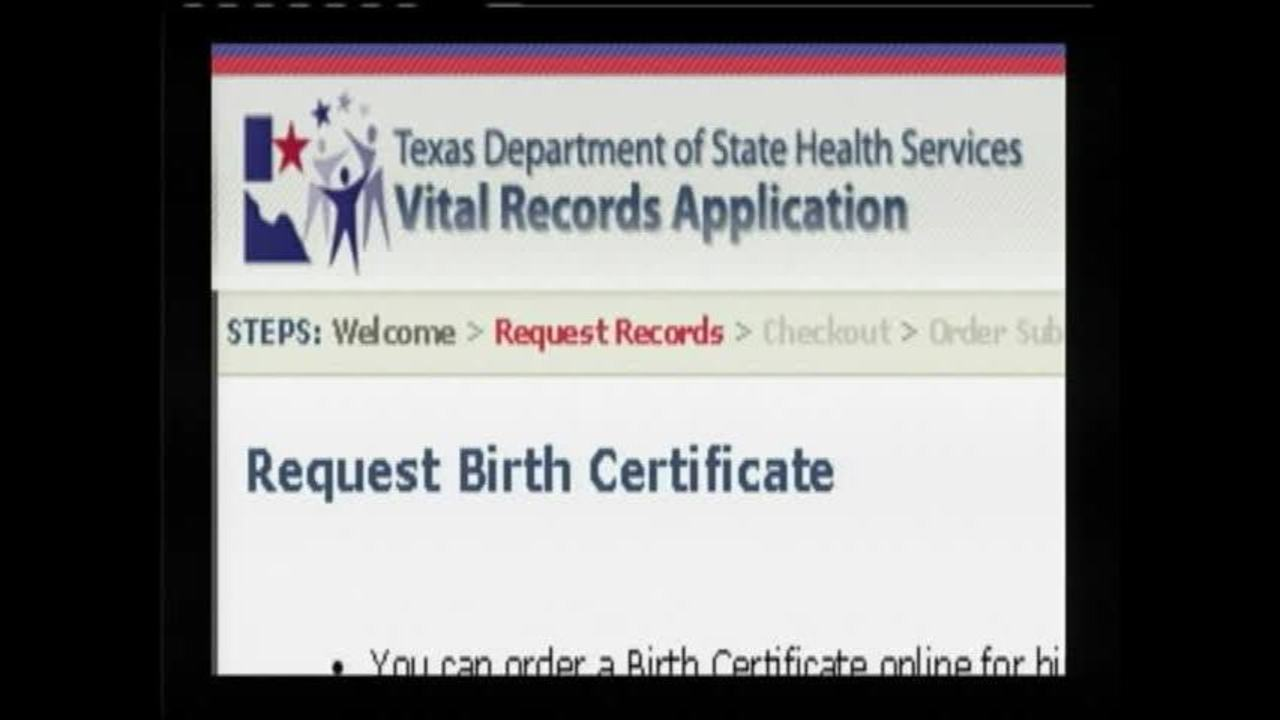 Texas Department Of State Health Services No Birth Certificates For