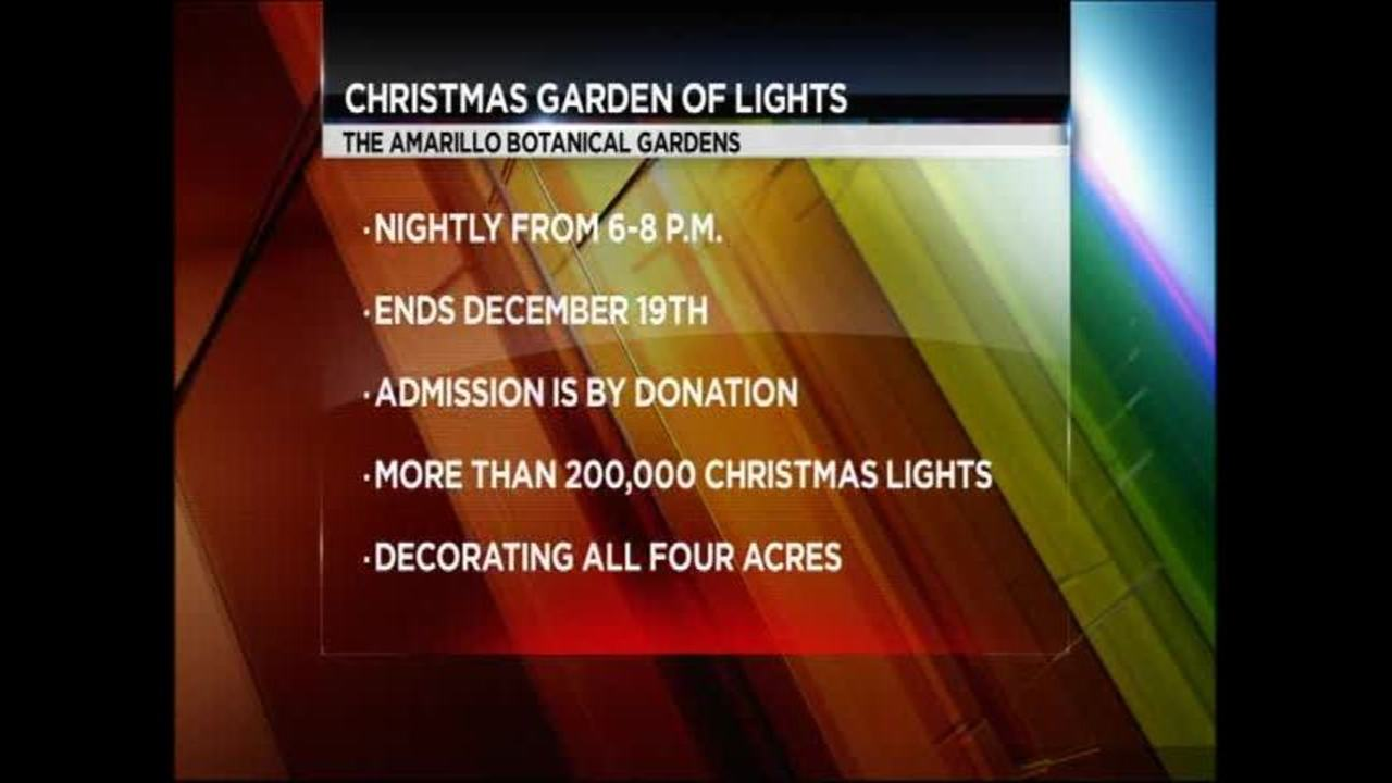 The Amarillo Botanical Gardens Christmas Garden of Lights
