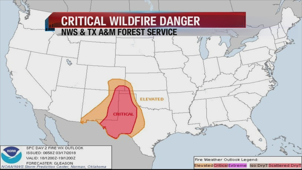 Critical Wildfire Danger Expected for Texas Panhandle, Easter New ...