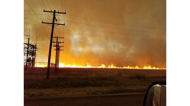Wildfire Caused by Lightning Burns 1,340 Acres in Swisher County