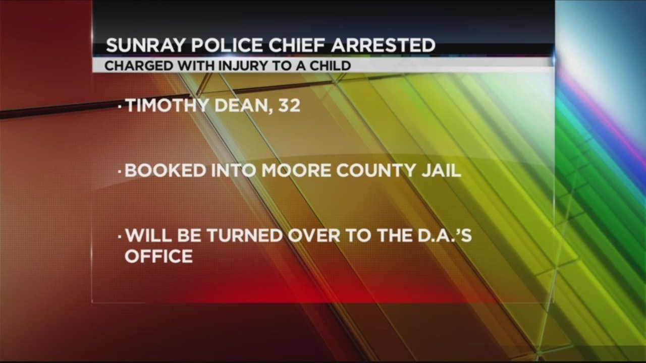 DPS: Sunray Police Chief Arrested for Injury to a Child Allegations