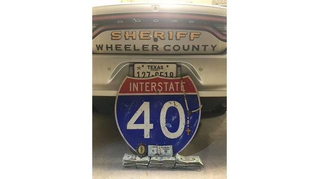Money Seized in Wheeler County During I-40 Traffic Stop