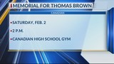 Memorial Planned for Thomas Brown