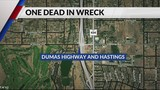 17-year-old girl died after wreck on Dumas Highway Sunday night