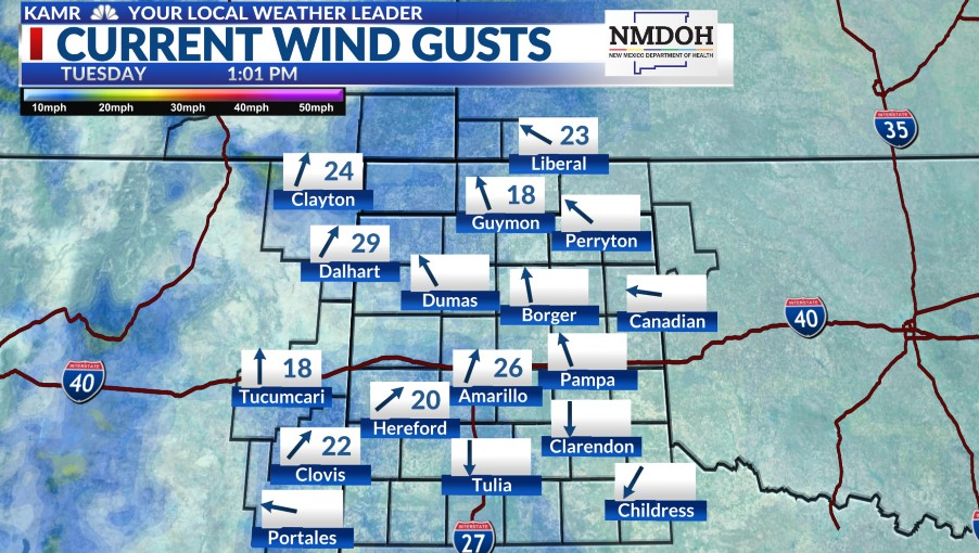 Local Gusts Map