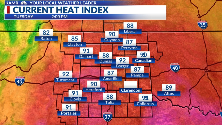 Current Heat Index Map